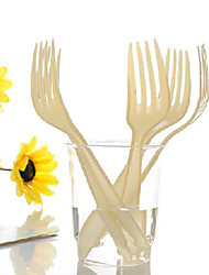 Beige Disposable Plastic Forks,1600Pcs/set