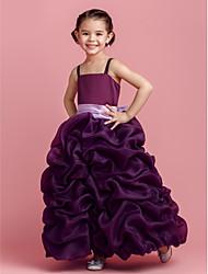 Vestido de niña de las flores - Corte Evasé Hasta el Suelo - Organza Sin Mangas
