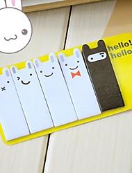 bonito mini coelho pós etiqueta ao Bookmark marcador bandeiras guia índice dom notas pegajosas de aniversário de criança (1pcs / set)