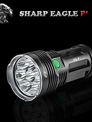 Sharp Eagle® LED Flashlights/Torch 9600LM Lumens 5 Mode Cree XM-L T6 18650Waterproof / Rechargeable / Impact Resistant / Nonslip grip /