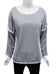 Batwing mouw contrast lijn t-shirt van vrouwen