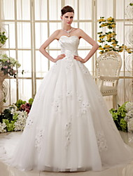 A-line Wedding Dress Strapless Lace/Tulle