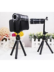 4X-12X Zoom Plastic Shell Magnetic Telephoto Camera Lens+Tripod for iPhone 6