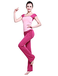 Yoga Fitness Cap Sleeve Blouse And Pants