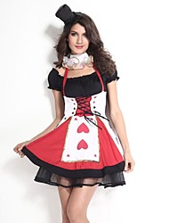 Cosplay Costumes Party Costume Princess Fairytale Festival/Holiday Halloween Costumes Red/Black Patchwork Dress Cravat HatsHalloween