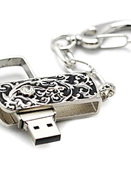 amotaios amo-uy077 (64G) 64GB USB 2.0 Flash Keychain pen drive / cristallo