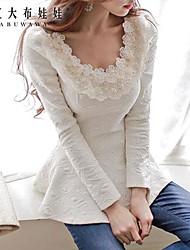 Women's Beige Shirt Long Sleeve