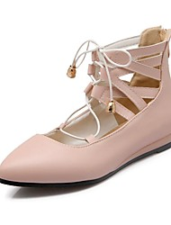 Women's Shoes Flat Heel Round Toe Flats Dress Green/Pink/Red/White