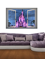 Architecture / Fashion / Landscape / Vintage Wall Stickers 3D Wall Stickers Decorative Wall Stickers,vinyl Material RemovableHome