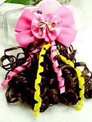 Girl's Coloured Ribbon With Tassel Wig Hair Clip(Random Color)