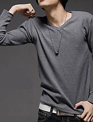 lazer moda camiseta em torno do pescoço fino