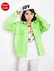 abrigo kimolove ™ de la mujer coreana informal de manga larga