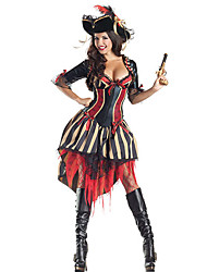 Costumes - Pirate - Féminin - Halloween - Manteau/Robe/Chapeau