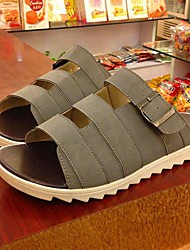 Men's Shoes Casual Leatherette Sandals Black/Blue/Brown/Green/Gray/Beige
