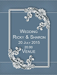 Personalized Wedding Invitations Classic Blue Pattern Save The Date Paper Card 15cm x 12.5cm 50pcs/Set