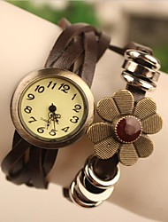 Women's 2015 The Latest Fashion Chrysanthemum Leather  Quartz Watch(Assorted Colors) Cool Watches Unique Watches