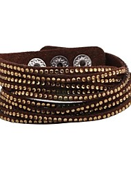 Women's Korea Upscale Velvet Full Of Diamond Bracelets