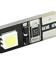 4pcs Canbus Interior T10 2 SMD 5050 LED T4W 6523 1895 2SMD 5050 DC 12V