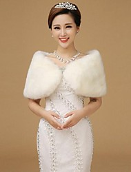 Fur Wraps Shawls Sleeveless Wool WhiteShawls Sleeveless Wool White