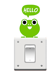 Switch Wall Stickers Wall Decals, Cartoon Frog PVC Switch Sticker