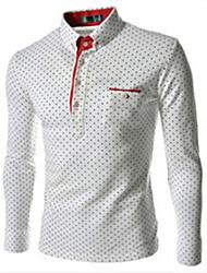Informell Hemdkragen - Langarm - MEN - T-Shirts ( Baumwoll Mischung )