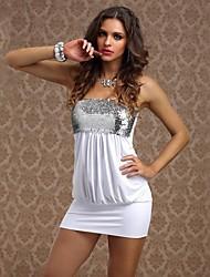 Mini - Vestido - Sensual/Bodycon - Poliéster