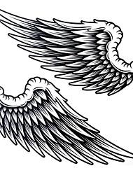Séries Animal - Yimei - Tatuagem Adesiva - Tamanho Grande/Waterproof - para Feminino/Masculino/Adulto/Adolescente - de Papel - Preta - 25cm*21.5cm 1