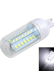 G9 10W Cross Board 1000LM 6500K/3000K 56-5730 SMD Warm/Cool White Light LED Corn Bulb (AC 220~240V)