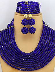 African Beads Fashion Jewelry Set 2015 Crystal Beads Necklace Jewelry Set Best Selling
