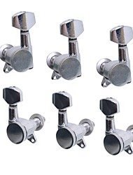 A Set 3R3L Chrome Locked String Guitar Tuning Pegs Tuners Machine Heads for Folk Acoustic Electric Guitar MU0799