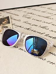 Mirrored Wayfarer Acrylic Retro Sunglasses
