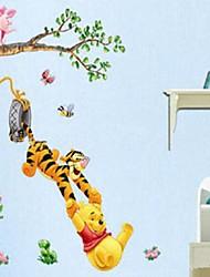 ambientale felice tigre papaer muro PVC estraibile