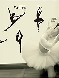 sticker mural PVC amovible de ballet de l'environnement