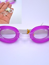 Three-piece Swimming Goggles Essential Value (Glasses + Earplugs + Nose clip) (Purple)
