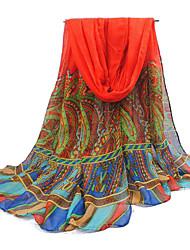 rouge fil de bali surdimensionné écharpe des femmes