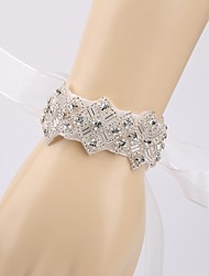 Handmade Diamond Luxury Bride Wedding Accessories Bracelet
