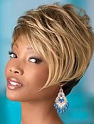 Top Quality Fashion Short Straight Doulbe Color(Blonde&Black) Wig Woman's Synthetic Wigs Hair