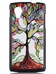 Para Capinha LG Estampada Capinha Capa Traseira Capinha Árvore Rígida PC LG LG G3 / LG Nexus 5
