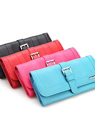Wedding Gifts Faux Leather Jewellery Roll Wallet Ring Earring Pouch Necklace Bag Coin Mother's Day Gift