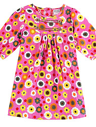 Vestidos ( Algodón ) - Micro-elástica - Mediano - Manga Larga - para CHICA