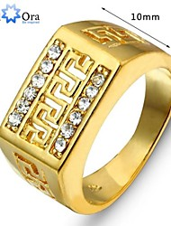 2015 Fashion Vintage Real Gold Looking Ring 18K Gold Plated Rings Good Quality Gold Men Ring Jewelry