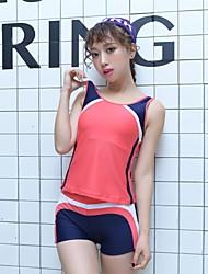 Women Vintage Padded Tankini Set Swimsuit Tank Top Shorts Suits