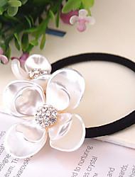 fleurs doubles style de mode liens de cheveux strass acryliques
