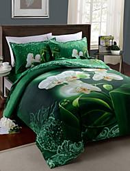 Duvet Cover Set,4 Piece Suit 8D Oil Painting Bedding Sets Cotton Printed Bedclothes Bed Linens Sheet Sets