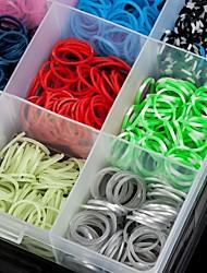 2200 pcs arc bricolage couleur métier à tisser bande de caoutchouc bracelets tissés élastiques