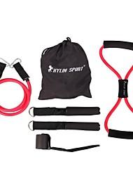 conjunto 6pc de la mujer de la aptitud de la cuerda elástica para el entrenamiento de fuerza