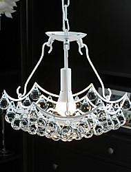 "14.6"" Pendant Light 1 Light Modern White Pendant Light with Glass Pendants Metal Glass"