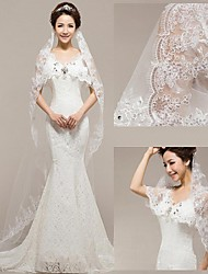 The New Bride Veil Korean Lace Flexible Pipe 3 Meters Long Mop The Floor Wedding Veil Sequins Yarn 642