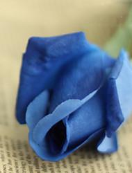 """18 """"l stieg Knospe Seidentuch Blumen Satz von 2 blau"""