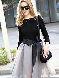Women's Put On A Large Bow Skirt